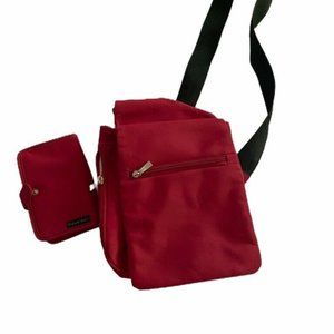 Travelon Womens Sling Bag Red Crossbody Adjustable